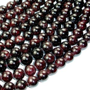 Shop Garnet Round Beads! Red Garnet Beads, Round, 11mm, 15.5 Inch, Full strand, Approx 35-37 beads, Hole 1 mm (370054012) | Natural genuine round Garnet beads for beading and jewelry making.  #jewelry #beads #beadedjewelry #diyjewelry #jewelrymaking #beadstore #beading #affiliate #ad