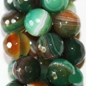 "Shop Agate Faceted Beads! Faceted Crackle Agate  Beads – Round 10 mm Gemstone Beads – Full Strand 15"", 38 beads, item 15 