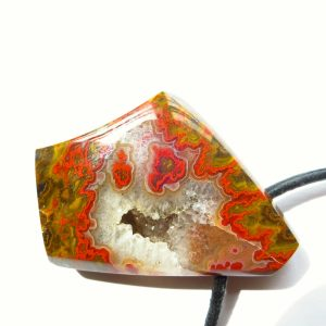 Agate Pendant, Agate From Morocco, Drilled Pendant