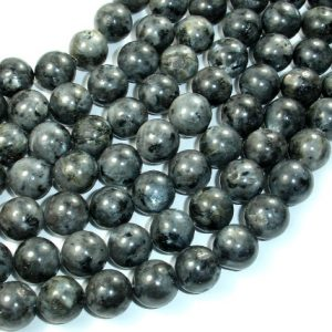 Black Labradorite Beads, 12mm Round Beads, 15.5 Inch, Full Strand, Approx 33 Beads, Hole 1 Mm (137054005)