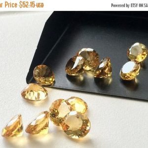 On Sale 55% Citrine Cabochon Lot – Oval Faceted Calibrated Citrine – 6x4mm Each  – 20 Pieces, 10.25 Carats, Beautiful Orange Citrine Cabocho