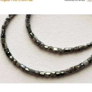 Shop Diamond Faceted Beads! Grey Sparkling Diamond Pipes – Faceted Diamond Beads – Conflict Free Diamonds – Approx 1.5mm To 2.5mm Each – 3.5 CTW – 4 Inch Strand | Natural genuine faceted Diamond beads for beading and jewelry making.  #jewelry #beads #beadedjewelry #diyjewelry #jewelrymaking #beadstore #beading #affiliate #ad