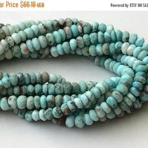 Larimar Beads, Natural Larimar Faceted Rondelle, Original Larimar Necklace, 6-6.5mm, 35 Pcs – GSP87