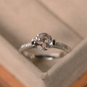 Shop Morganite Engagement Rings! Natural morganite  ring, engagement ring, sterling silver, pink morganite, promise ring | Natural genuine Morganite rings, simple unique alternative gemstone engagement rings. #rings #jewelry #bridal #wedding #jewelryaccessories #engagementrings #weddingideas #affiliate #ad