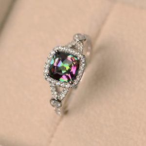 Shop Topaz Jewelry! mystic topaz ring, rainbow topaz ring, engagement ring, wedding ring | Natural genuine gemstone jewelry in modern, chic, boho, elegant styles. Buy crystal handmade handcrafted artisan art jewelry & accessories. #jewelry #beaded #beadedjewelry #product #gifts #shopping #style #fashion #product