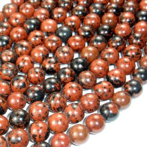 Shop Obsidian Beads! Mahogany Obsidian Beads, Round, 10mm, 15.5 Inch, Full strand, Approx 39 beads, Hole 1 mm, A Quality (311054004) | Natural genuine beads Obsidian beads for beading and jewelry making.  #jewelry #beads #beadedjewelry #diyjewelry #jewelrymaking #beadstore #beading #affiliate