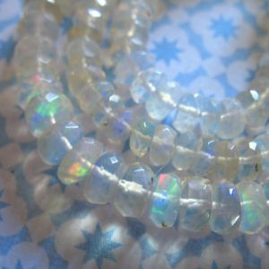 Shop Opal Beads! 5-50 pcs / Ethiopian Opal Rondelles, 3-4 mm, Ethiopian Wello Welo OPAL Beads, Luxe AAA, Faceted White Opal, white, 40 solo | Natural genuine beads Opal beads for beading and jewelry making.  #jewelry #beads #beadedjewelry #diyjewelry #jewelrymaking #beadstore #beading #affiliate #ad