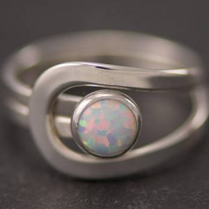 Shop Opal Rings! Opal Ring, Silver Opal Ring, Gemstone Ring, Sterling Silver Stone Ring, Handmade Sterling Silver Statement Ring | Natural genuine Opal rings, simple unique handcrafted gemstone rings. #rings #jewelry #shopping #gift #handmade #fashion #style #affiliate #ad