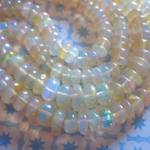 Shop Rondelle Gemstone Beads! 5-100 pcs / OPAL Rondelles Beads, Welo Ethiopian Opal, 3-4 mm, AAA, Smooth White Opal Roundels, October Birthstone bridal weddings solo 34 | Natural genuine rondelle Gemstone beads for beading and jewelry making.  #jewelry #beads #beadedjewelry #diyjewelry #jewelrymaking #beadstore #beading #affiliate #ad