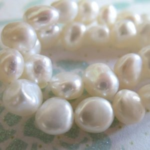 Shop Pearl Bead Shapes! 10% Off Sale.. POTATO PEARLS, Freshwater Pearls, Cultured Pearl Beads, Full Strand, 7×5 mm, white / black / silver gray bridal pb wf | Natural genuine other-shape Pearl beads for beading and jewelry making.  #jewelry #beads #beadedjewelry #diyjewelry #jewelrymaking #beadstore #beading #affiliate #ad