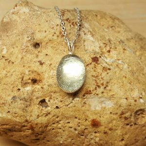 Small Amethyst Pendant. 925 Sterling Silver. Green Amethyst Necklace. Reiki Jewelry Uk. February Birthstone