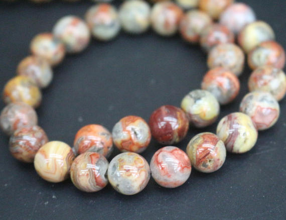 Red Crazy Lace Agate Beads,4mm/6mm/8mm/10mm/12mm Smooth And Round Stone Beads,15 Inches One Starand