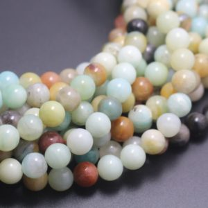 6mm/8mm/10mm/12mm Amazonite Beads,multicolor Amazonite Beads,natural Gemstone Round Beads,15 Inches One Starand