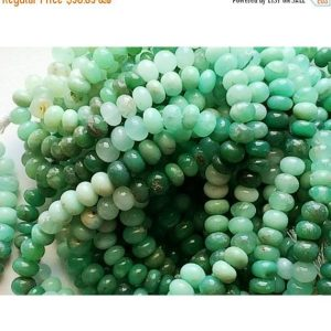 Shop Chrysoprase Rondelle Beads! 7mm Chrysoprase Plain Rondelle Beads, Shaded Green Chrysoprase Beads, Chrysoprase Smooth Beads For Jewelry (18Pc To 36Pc Options) | Natural genuine rondelle Chrysoprase beads for beading and jewelry making.  #jewelry #beads #beadedjewelry #diyjewelry #jewelrymaking #beadstore #beading #affiliate #ad