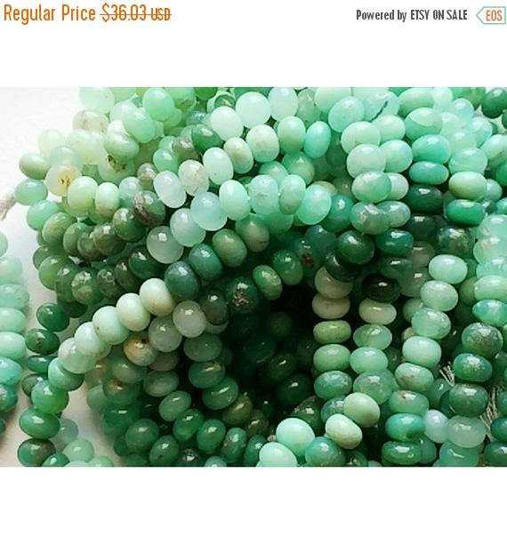 Chrysoprase Rondelle, Chrysoprase Beads, Shaded Chrysoprase, Finest Quality Aaa Chrysoprase Beads, 7mm Beads, 3.5 Inch Strand, 18 Pieces