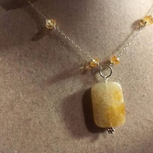 Shop Citrine Necklaces! Citrine Necklace – Yellow Jewelry – November Birthstone Jewellery – Sterling Silver Chain – 925 – Gemstone – Pendant | Natural genuine gemstone jewelry in modern, chic, boho, elegant styles. Buy crystal handmade handcrafted artisan art jewelry & accessories. #jewelry #beaded #beadedjewelry #product #gifts #shopping #style #fashion #product