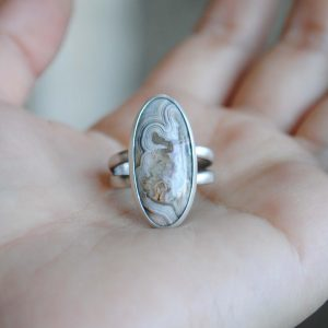 Crazy Lace Agate Ring, Size 8
