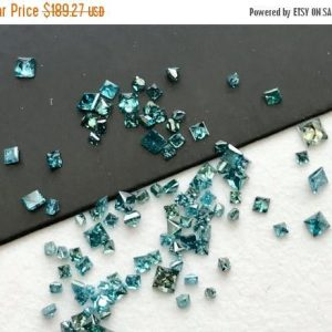 On Sale 55% 0.5 Cts Blue Diamond Princess Cut, Natural Sparkling Faceted  Square Blue Diamond, Loose Diamonds, 1-2mm – Ds302