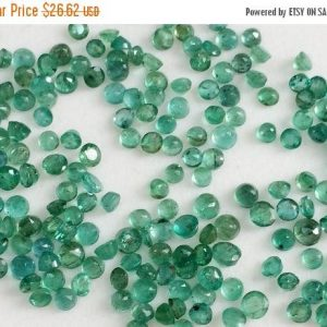 Shop Emerald Faceted Beads! 1 CTW Emerald Stones, Natural Loose Emerald Faceted Round Gemstone Lot, Original Emerald, Emerald Jewelry, 2.5-4mm – Pgpa14 | Natural genuine faceted Emerald beads for beading and jewelry making.  #jewelry #beads #beadedjewelry #diyjewelry #jewelrymaking #beadstore #beading #affiliate #ad