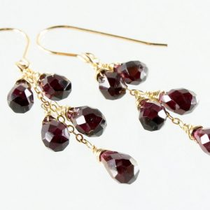 Shop Garnet Earrings! Garnet earrings, Gold filled earrings, deep red gemstone earrings, boho earrings, cluster earrings, January birthstone, gift for her, 3238 | Natural genuine Garnet earrings. Buy crystal jewelry, handmade handcrafted artisan jewelry for women.  Unique handmade gift ideas. #jewelry #beadedearrings #beadedjewelry #gift #shopping #handmadejewelry #fashion #style #product #earrings #affiliate #ad
