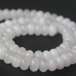 White Jade Rondelle Beads,rondelle Malaysian White Jade Beads,15 Inches One Starand