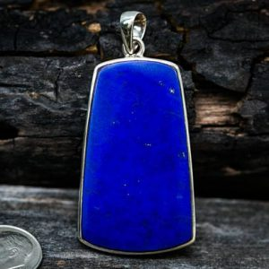 Lapis Pendant Set In Sterling Silver – Gorgeous Lapis Lazuli Pendant – Lapis Jewelry – Sterling Silver Lapis Necklace – Lapis Lazuli Jewelry