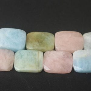 Natural Faceted Morganite Rectangle Shape Beads, 15 Inches One Starand | Natural genuine faceted Morganite beads for beading and jewelry making.  #jewelry #beads #beadedjewelry #diyjewelry #jewelrymaking #beadstore #beading #affiliate #ad