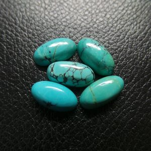 Natural Tibetan Turquoise Smooth Oval Shape Cabochons 14×7 Mm Size 5 Pieces Loose Gemstone Beads Aaa Grade Quality #1300