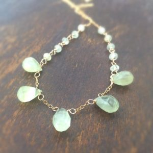 Shop Prehnite Necklaces! Prehnite Necklace – Green Gemstone Jewellery – Gold Chain Jewelry – Luxe | Natural genuine gemstone jewelry in modern, chic, boho, elegant styles. Buy crystal handmade handcrafted artisan art jewelry & accessories. #jewelry #beaded #beadedjewelry #product #gifts #shopping #style #fashion #product
