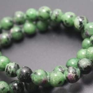 6mm/8mm/10mm/12mm Natural Ruby Zoisite Beads,smooth And Round Stone Beads,15 Inches One Starand