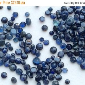 On Sale 55% Sapphire – Blue Sapphire Loose Gemstones, Round Faceted Sapphire, Rose Cut Sapphire Gems, 2 Cts Calibrated, 2-3mm, 12-13 Pi