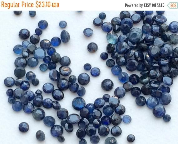 2-3mm Blue Sapphire Round Faceted Gems, Cut Blue Sapphire Gems For Jewelry, Loose Sapphire Gemstones (1ct To 10cts Options)
