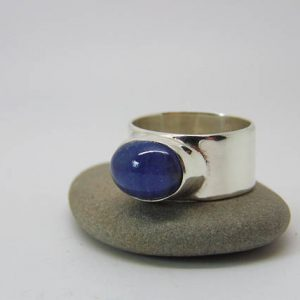 Tanzanite Ring – Sterling Silver Ring – Tanzanite Jewellery – December Birthstone – Minimalist Ring – Us Size 9 – Uk Size R