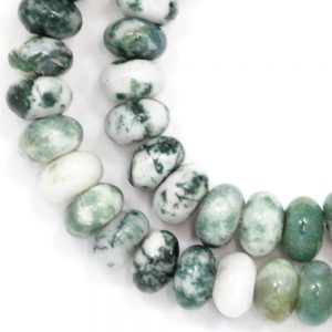 Tree Agate Beads – 8mm Rondelle