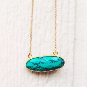 Shop Turquoise Necklaces! Turquoise Necklace – Turquoise Jewelry – Gemstone Pendant – Gold Jewellery – Everyday Jewelry | Natural genuine Turquoise necklaces. Buy crystal jewelry, handmade handcrafted artisan jewelry for women.  Unique handmade gift ideas. #jewelry #beadednecklaces #beadedjewelry #gift #shopping #handmadejewelry #fashion #style #product #necklaces #affiliate #ad