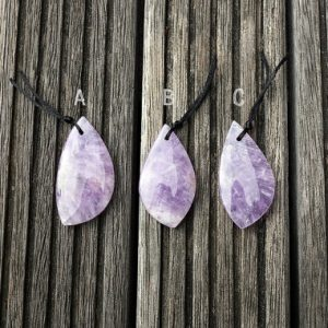 Natural Lavender Amethyst (Madagascar) freeform pendant (ETP00147) | Natural genuine other-shape Array beads for beading and jewelry making.  #jewelry #beads #beadedjewelry #diyjewelry #jewelrymaking #beadstore #beading #affiliate #ad