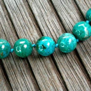 Shop Chrysocolla Round Beads! Natural Amazing Blue Peruvian Chrysocolla 12.5-14mm Round Beads (etb01007) | Natural genuine round Chrysocolla beads for beading and jewelry making.  #jewelry #beads #beadedjewelry #diyjewelry #jewelrymaking #beadstore #beading #affiliate #ad