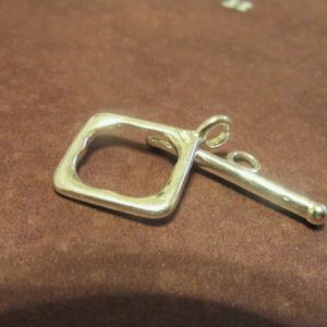 Shop Sale.. 1 Set, 925 Sterling Silver Toggle Clasp, Diamond Square, 18.5×14 Mm, Small, Wholesale Findings T3 Hp Solo Cs