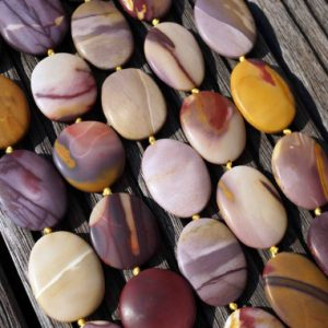 Shop Jasper Bead Shapes! Matte Mookaite Jasper 25-30mm Freeform Beads (etb00520) | Natural genuine other-shape Jasper beads for beading and jewelry making.  #jewelry #beads #beadedjewelry #diyjewelry #jewelrymaking #beadstore #beading #affiliate #ad
