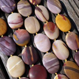 Xmas Sale Buy Now Matte Mookaite Jasper 25-30mm Freeform Beads (etb00520)