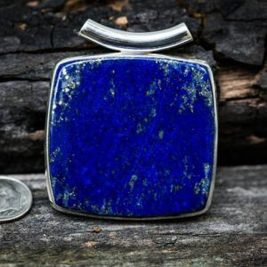 Shop Lapis Lazuli Necklaces! Lapis Pendant – Lapis Sterling Silver – Gorgeous Tube Bale Lapis Lazuli Pendant – Lapis Jewelry – Sterling Silver Lapis Necklace – Lapis | Natural genuine Lapis Lazuli necklaces. Buy crystal jewelry, handmade handcrafted artisan jewelry for women.  Unique handmade gift ideas. #jewelry #beadednecklaces #beadedjewelry #gift #shopping #handmadejewelry #fashion #style #product #necklaces #affiliate #ad