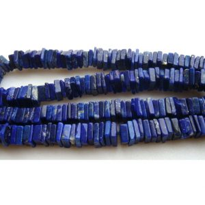 Lapis Lazuli Beads – Square Heishi Cut Beads – 6.5 – 7mm Beads – 8 Inches Half Strand