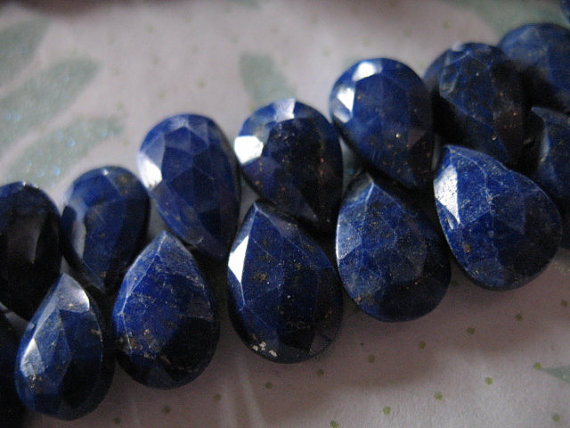 Lapis Lazuli Pear Briolettes Beads, Luxe Aaa , 9-11 Mm, Dark Navy Blue, 2-10 Pieces, Tons Of Pyrite, September Birthstone Bridal 910