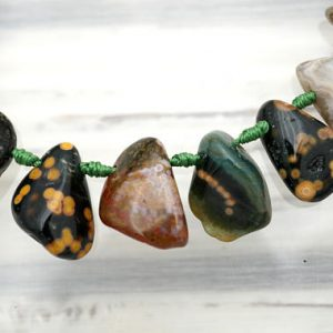 Xmas Sale Buy Now Ocean Jasper Freeform Beads (etb01059)