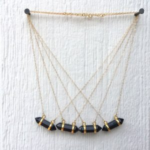 Shop Onyx Necklaces! Black Onyx Necklace – Black Point Necklace – Onyx Gemstone Jewelry – Spike Necklace – Gold Chain Jewellery – Everyday Jewelry | Natural genuine Onyx necklaces. Buy crystal jewelry, handmade handcrafted artisan jewelry for women.  Unique handmade gift ideas. #jewelry #beadednecklaces #beadedjewelry #gift #shopping #handmadejewelry #fashion #style #product #necklaces #affiliate #ad