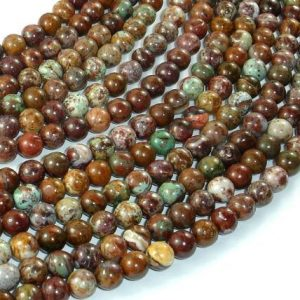 African Green Opal, 6mm(6.3mm) Round Beads, 16 Inch, Full strand, Approx 66 beads, Hole 1mm, A quality (104054003)