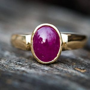 Ruby Ring 14k Gold Size 7 – Ruby Jewelry – Engagement Ring Alternative – 14k Gold – Ruby Ring – Natural Ruby – Ring Size 7 – Natural Ruby