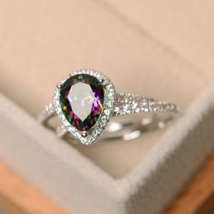 Shop Topaz Jewelry! Mystic topaz ring, engagement ring, rainbow topaz ring | Natural genuine gemstone jewelry in modern, chic, boho, elegant styles. Buy crystal handmade handcrafted artisan art jewelry & accessories. #jewelry #beaded #beadedjewelry #product #gifts #shopping #style #fashion #product