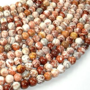 Shop Crazy Lace Agate Beads! Mexican Crazy Lace Agate Beads, 6mm Round Beads, 15 Inch, Full strand, Approx 65 beads, Hole 1mm, A quality (202054021)   Natural genuine beads Agate beads for beading and jewelry making.  #jewelry #beads #beadedjewelry #diyjewelry #jewelrymaking #beadstore #beading #affiliate #ad
