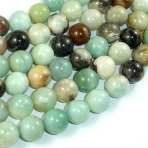 Amazonite Beads, 12mm (12.5mm) Round Beads, 15.5 Inch, Full Strand, Approx 32 Beads, Hole 1mm, A Quality (111054018)